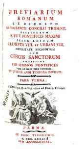 Breviarium romanum, 2: ex decreto sacrosancti Concilii Trident. restitutum