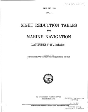 Sight Reduction Tables for Marine Navigation PDF