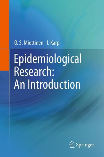 Epidemiological Research  An Introduction PDF