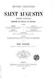 Œuvres complètes de Saint Augustin: Volume20