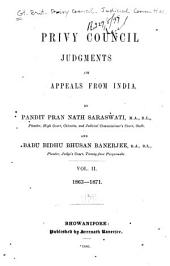 Privy Council Judgments on Appeals from India: Volume 2