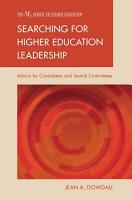 Searching for Higher Education Leadership PDF