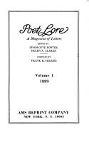Poet Lore PDF