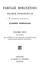 Fabulae romanenses graece conscriptae