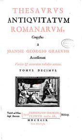 Thesaurus antiquitatum romanarum: Tomus decimus