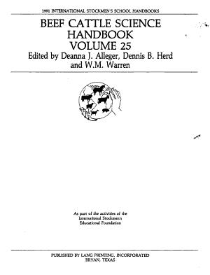 Beef Cattle Science Handbook PDF
