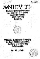 Nieu tidinghe uut francryck, welcke is een antwoorde op de openbare oerloghe die de Coninck heeft doen uutroepen [20 aug.].