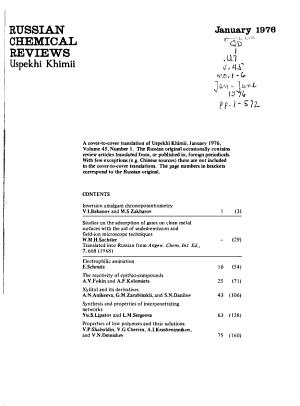 Russian Chemical Reviews PDF
