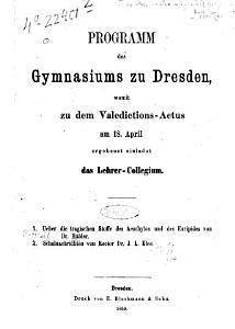 Ueber die tragischen Stoffe des Aeschylos und des Euripides PDF