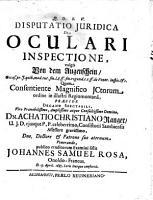 Disputatio juridica de oculari inspectione PDF