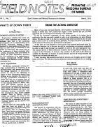 Field Notes from the Arizona Bureau of Mines