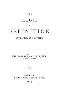The Logic of Definition PDF