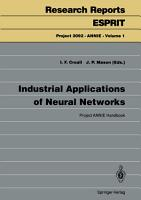 Industrial Applications of Neural Networks PDF