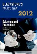 Blackstone s Police Q A  Evidence and Procedure 2012 PDF