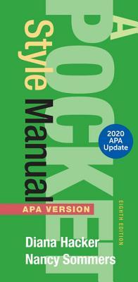 A Pocket Style Manual  APA Version  2020 Update