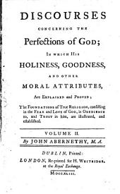 Discourses Concerning the Pefections of God
