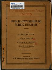... Public Ownership of Public Utitlities