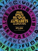 Special-effects and Topical Alphabets