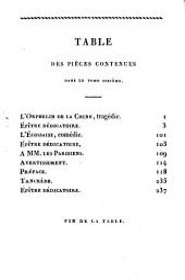 Chefs d'ouvres dramatiques de Voltaire: Volume6