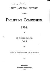 Annual Report of the Philippine Commission to the Secretary of War