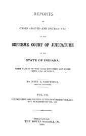 Reports of Cases Argued and Determined in the Supreme Court of Judicature of the State of Indiana: Volume 122