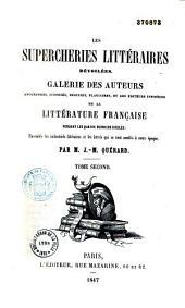 Les supercheries littéraires dévoilées: Volume2