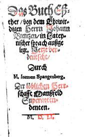 Das Buch Esther ... ausgelegt