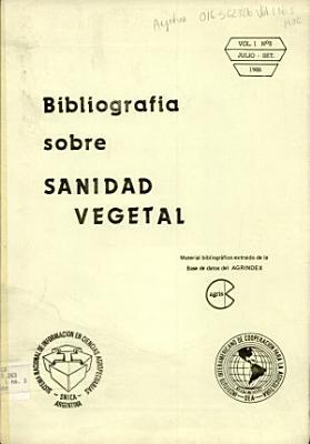 Bibliografia Sobre Sanidad Vegetal PDF