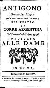 Antigono: Drama per musica