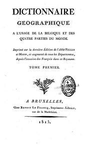 Dictionnaire géographique