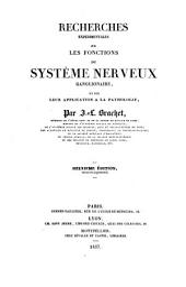 Recherches experimentales sur les fonctions du système nerveux ganglionaire
