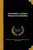 VASAVADATTA A SANSKRIT ROMANCE PDF