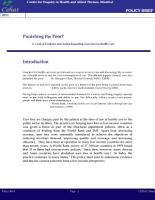 Punishing the Poor  A Look at Evidence and Action Regarding User Fees in Health Care PDF