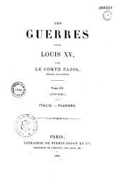 Les guerres sous Louis XV: Volume3