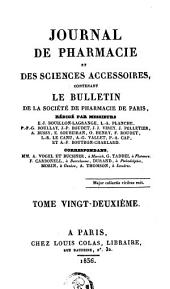 Journal de pharmacie et des sciences accessoires: Volume22