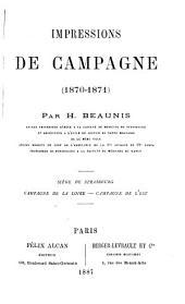 Impressions de campagne: 1870-1871