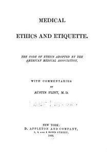Medical ethics and etiquette PDF