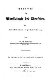 Grundriss der Physiologie des Menschen ...