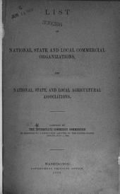 List of national, state, and local commercial organizations, and national, state, and local agricultural associations