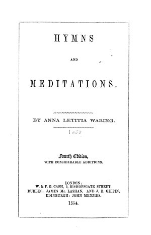 Hymns and Meditations