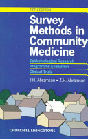 Survey Methods in Community Medicine