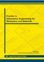 Frontier in Information Engineering for Mechanics and Materials PDF