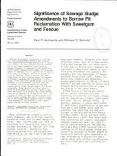 Significance of sewage sludge amendments to borrow pit reclamation with sweetgum and fescue
