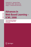 Advances in Web Based Learning - ICWL 2008