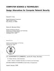 Design Alternatives for Computer Network Security PDF