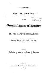 Annual Meeting: Volume 61