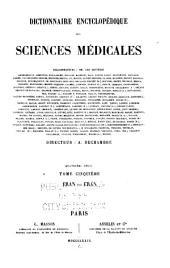 Dictionnaire encyclopédique des sciences médicales: Volume41