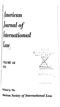 The American Journal of International Law PDF