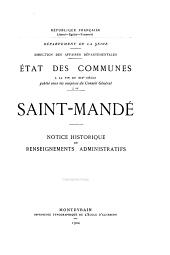 État des communes à la fin du XIXe siècle: Saint-Mande - Saint-Maurice