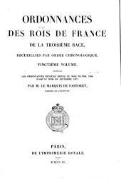 Ordonnances des roys de France de la troisième race: Ordonnances rendues depuis de mois d'avril 1486 jusqu'au mois de décembre 1497. 1840